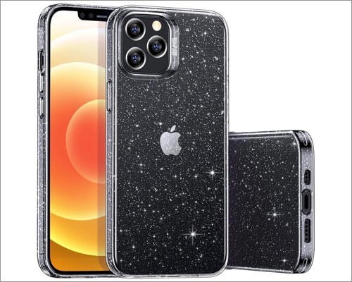 ESR Shimmer Series Clear Glitter Case for iPhone 12 and 12 Pro
