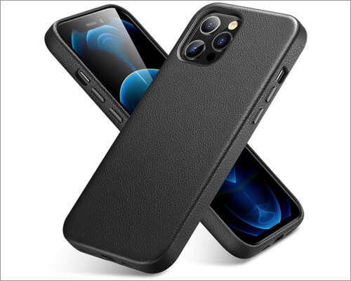 ESR Slim Leather Case for iPhone 12 and 12 Pro