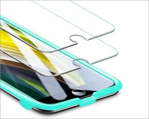 esr tempered glass screen guard for iphone se 2020