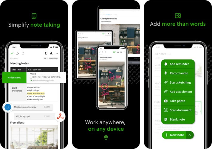 evernote iphone and ipad team management app screenshot