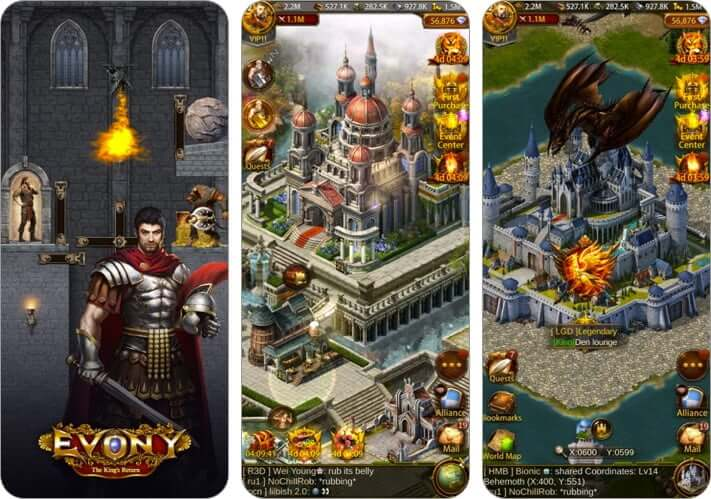evony multiplayer role playing iphone and ipad game screenshot
