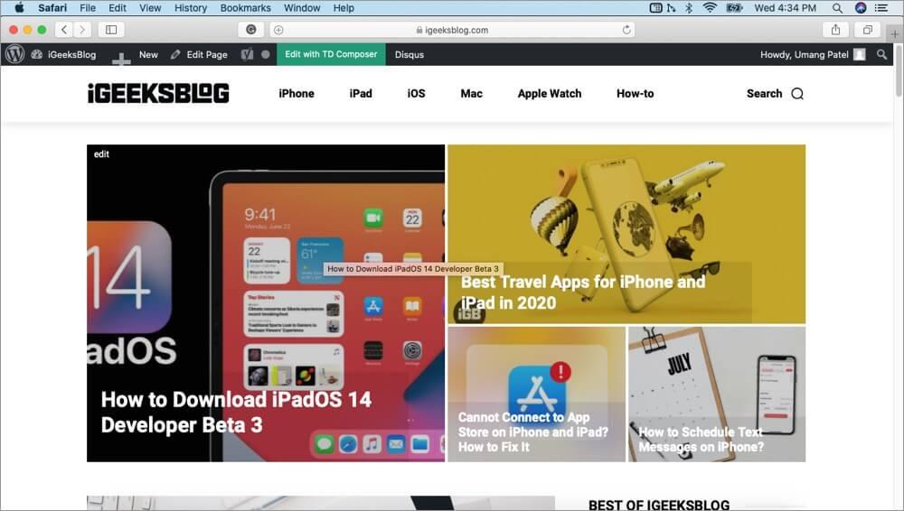 exit split screen on mac