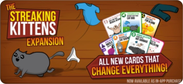 Exploding Kittens iPhone and iPad Card Game Screenshot