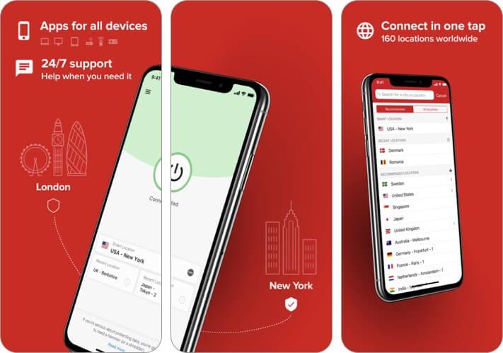 express vpn iphone and ipad app screenshot