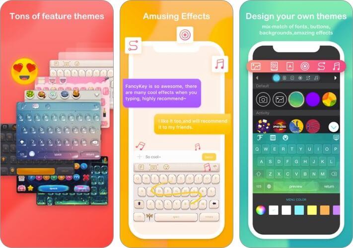 fancykey iphone and ipad keyboard app screenshot