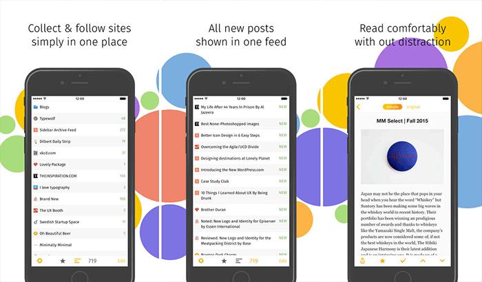 feeder.co RSS Reader iPhone and iPad App Screenshot