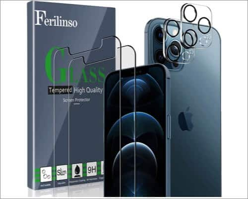 Ferilinso iPhone 12 Pro Max Camera Lens Protector
