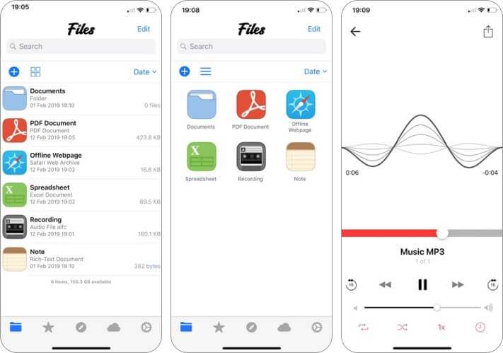 file manager and browser iphone and ipad app screenshot