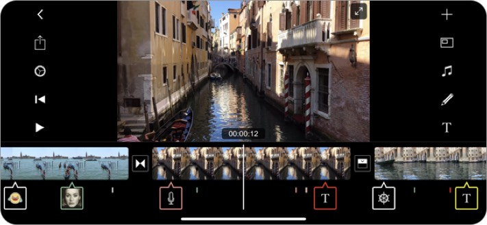 filmmaker pro video editing iphone and ipad app screenshot