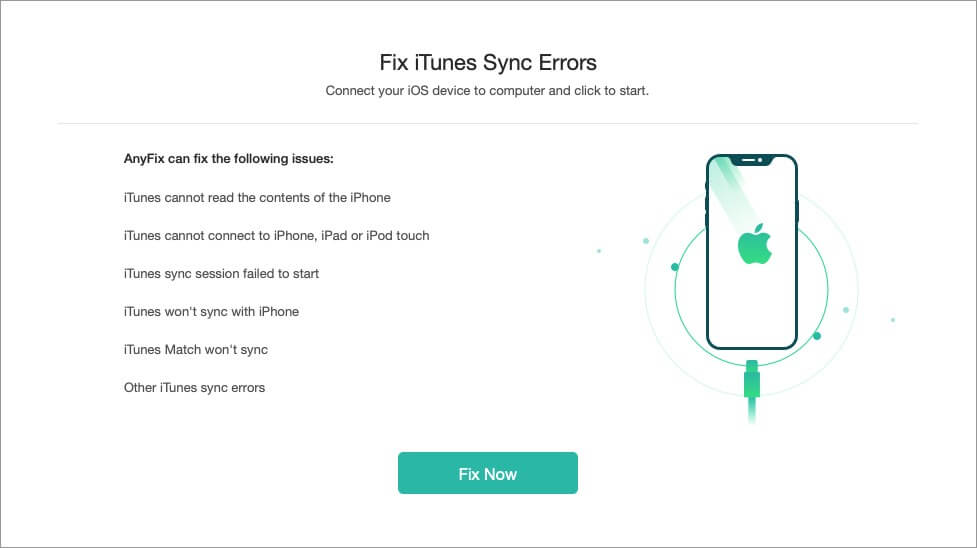 fix itunes sync errors with just one click using anyfix ios recovery software