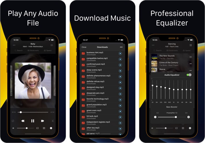 flacbox: flac player equalizer iphone and ipad app screenshot