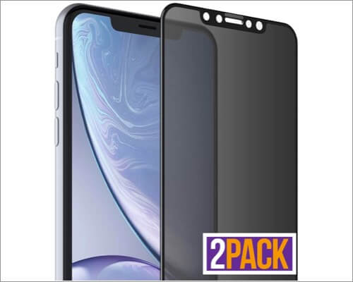 flexgear privacy screen protector for iphone xr