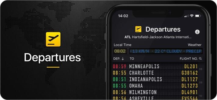Flight Board iPhone and iPad App Screenshot