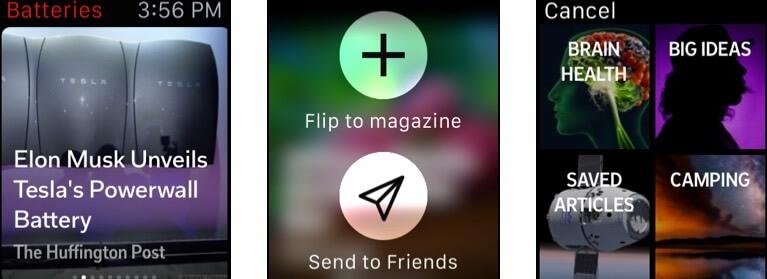 Flipboard Apple Watch App Screenshot