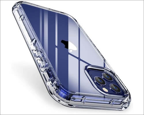 FLOVEME Heavy Duty 2 in 1 Clear Case for iPhone 12 and 12 Pro