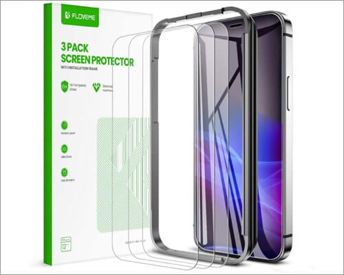 FLOVEME Screen Protector Glass for iPhone 12 Pro Max