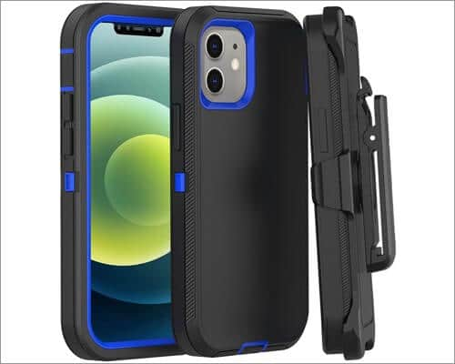 FOGEEK Heavy-Duty Belt Clip Case for iPhone 12 Pro Max and 12 Mini