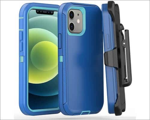 FOGEEK Heavy Duty Kickstand Casefor iPhone 12 Mini and 12 Pro Max
