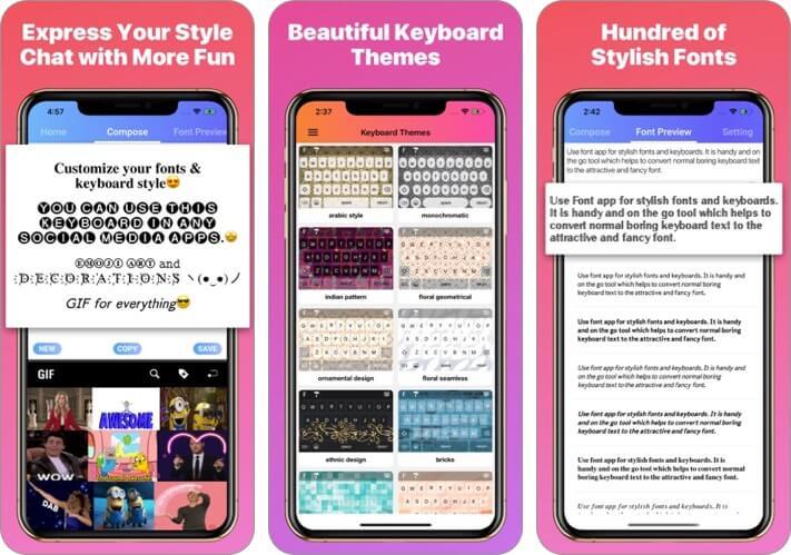 font app - cool fonts keyboard iphone and ipad app screenshot
