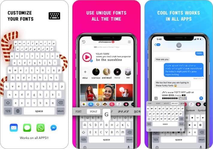 Font iPhone App Screenshot