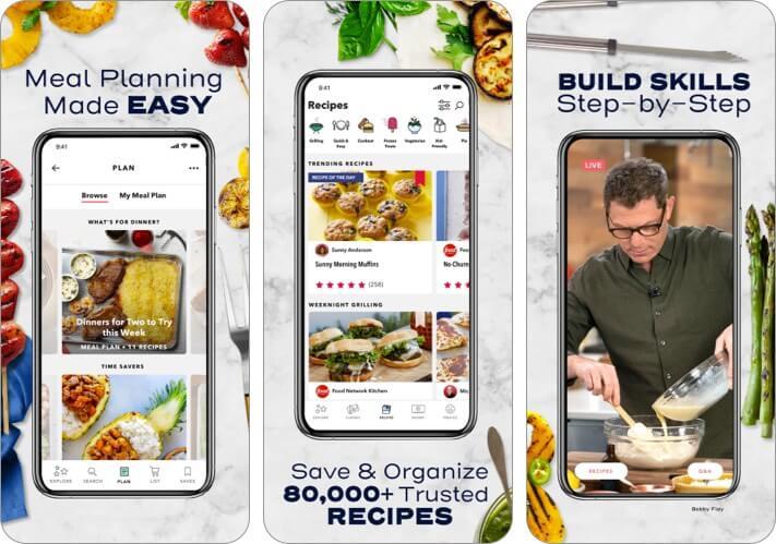 Food Network Kitchen iPhone and iPad Recipe App Screenshot