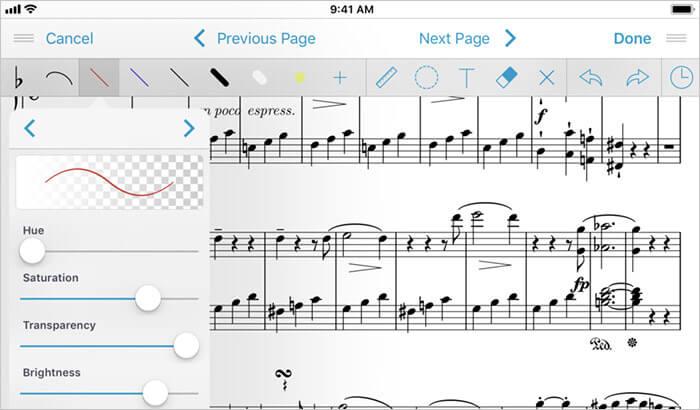 forScore iPad App Screenshot