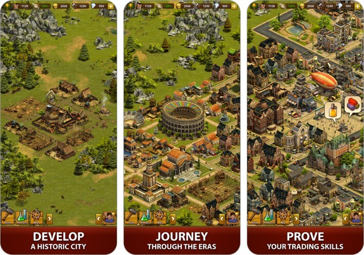 forge of empires: build a city iphone and ipad city building game screenshot