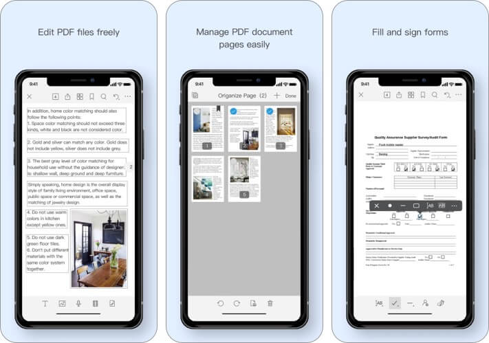 Foxit PDF Editor iPhone and iPad App Screenshot