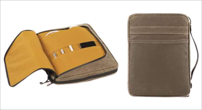 front and back pocket of waterfield tech folio laptop bag