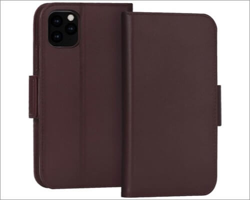 fyy cowhide leather case for iphone 11 pro max