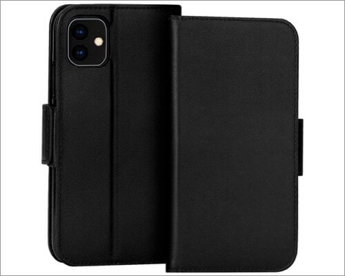 fyy genuine leather wallet case for iphone 11