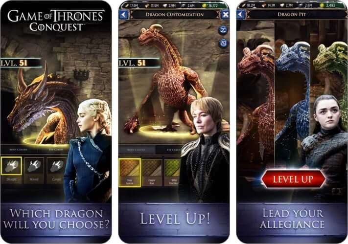 game of thrones conquest multiplayer role playing iphone and ipad game screenshot