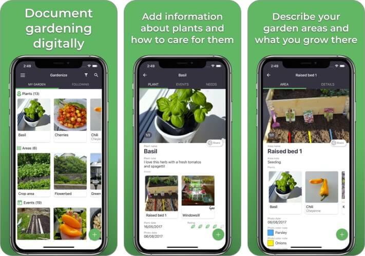 GARDENIZE lifestyle app for iPad