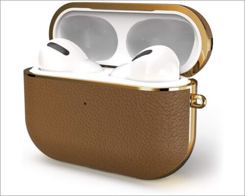 gaze genuine cow leather case for airpods pro