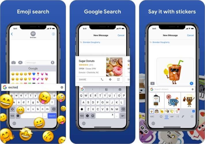 gboard iphone and ipad keyboard app screenshot
