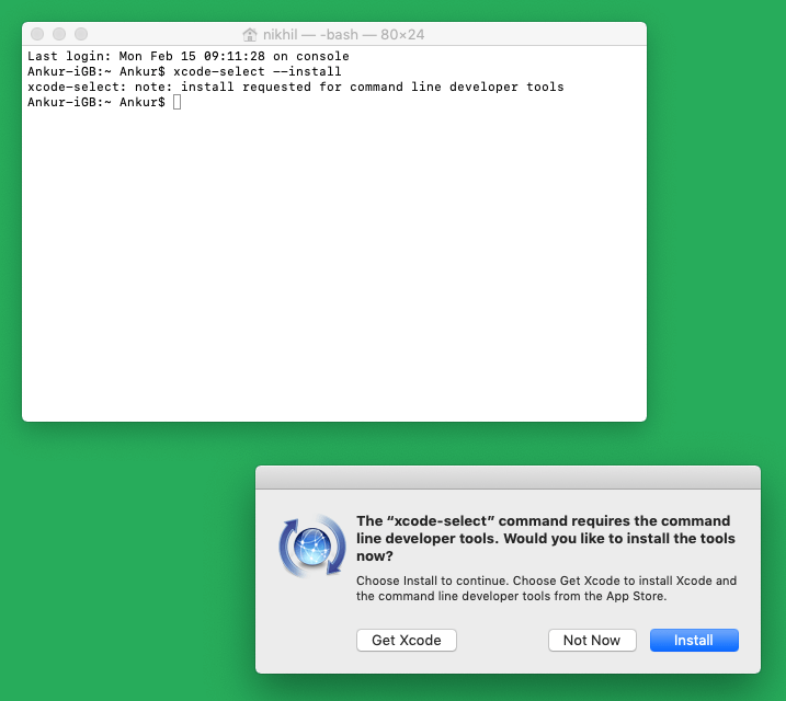 Get Command Line Tools and Install on your Mac