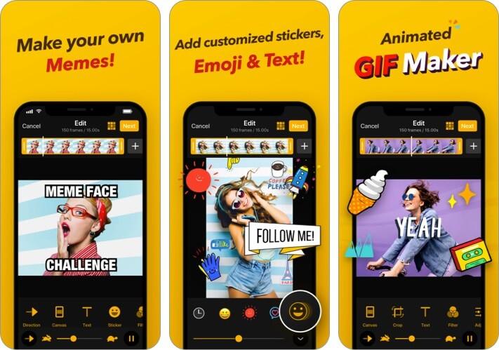 GIF Maker iPhone and iPad App Screenshot