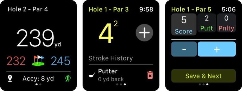 Golf GPS Apple Watch App Screenshot