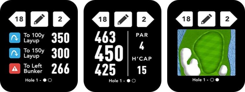 GolfLogix Apple Watch App Screenshot
