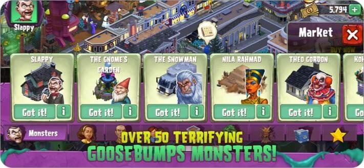 Goosebumps Horror Town iPhone and iPad Halloween Game Screenshot