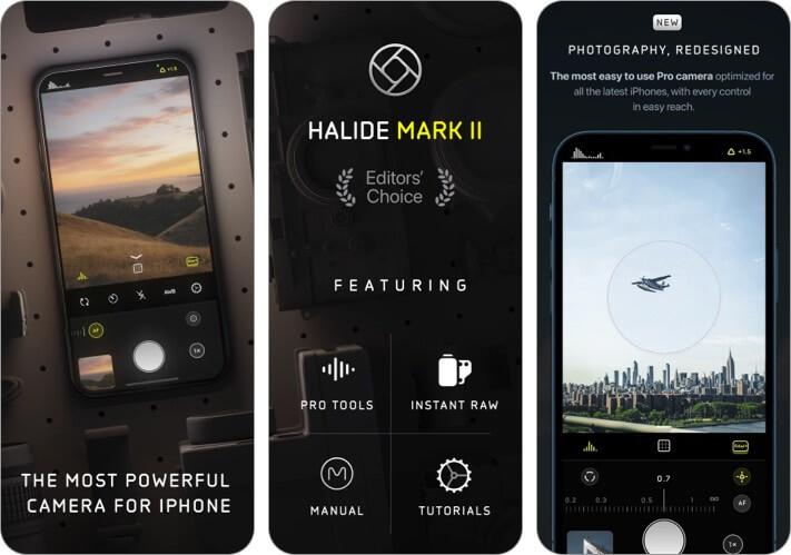 Halide Mark II iPhone and iPad Food Photography App Screenshot
