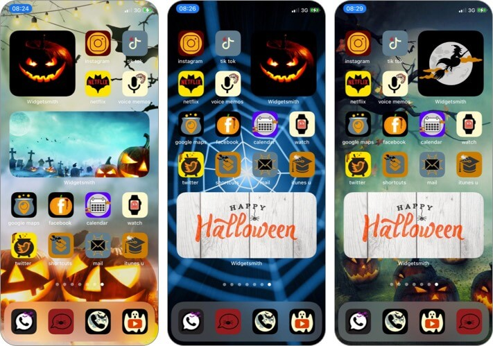 Halloween App Icons Set for iPhone and iPad