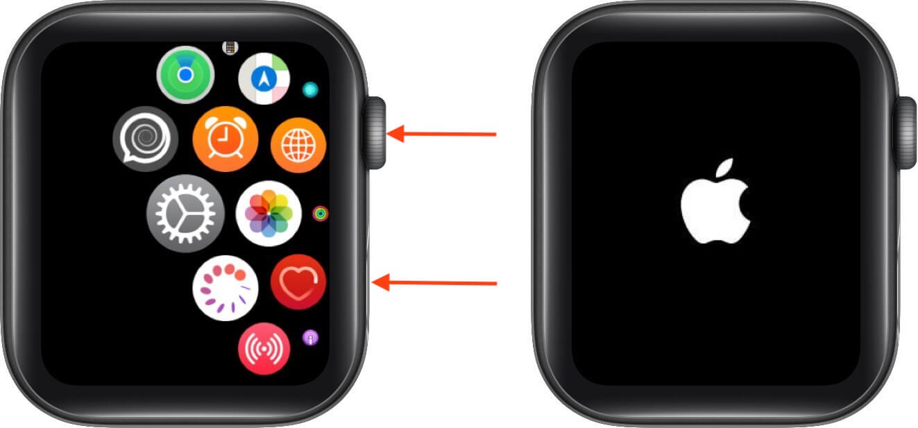 hard reset apple watch