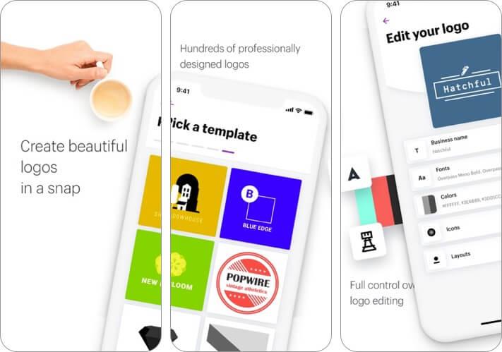 hatchful logo maker iphone and ipad app screenshot