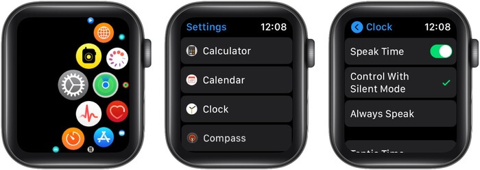 Have Apple Watch Announce Time