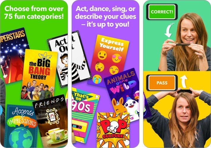 Heads Up iPhone and iPad Card Game Screenshot