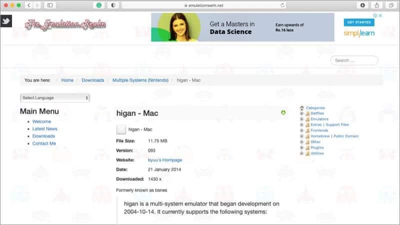 higan Mac SNES Emulator Screenshot