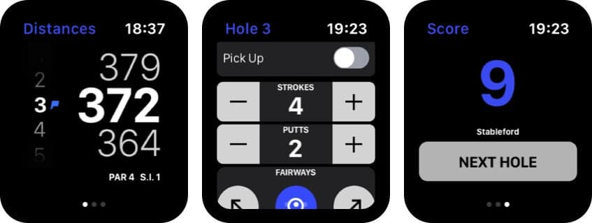 Hole19 Apple Watch Golf App Screenshot