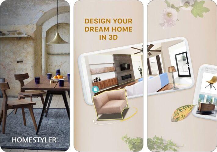 Homestyler Interior Design iPhone and iPad App Screenshot