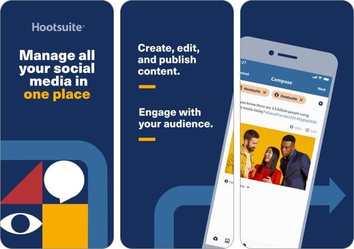 hootsuite social media iphone app screenshot